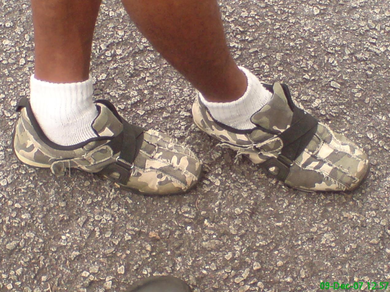 Loreng cycling shoes.. cool!