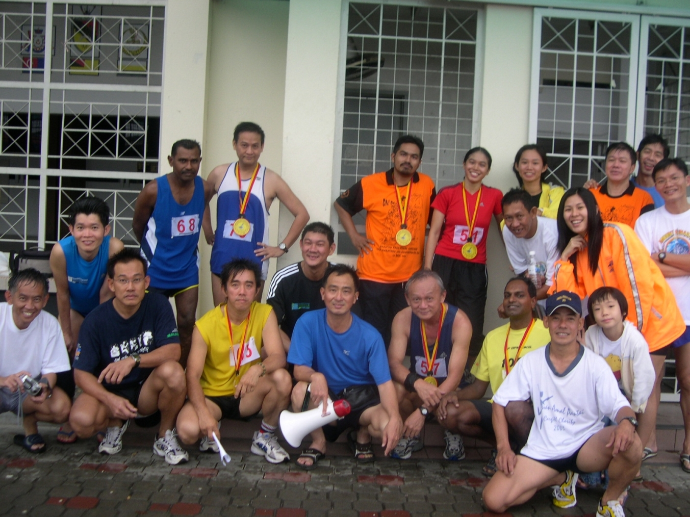 My 1st half-marathon in 2005
