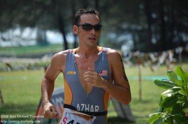 taken day before during the sprint event. Ungku Azhar of Powerbar Team Elite