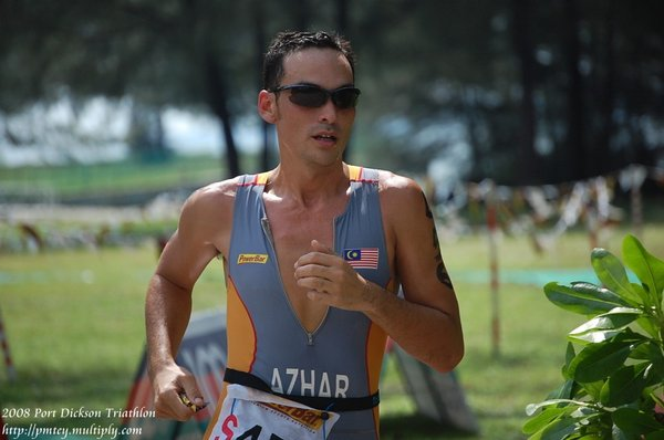 taken day before during the sprint event. Ungku Azhar of Powerbar Team Elite