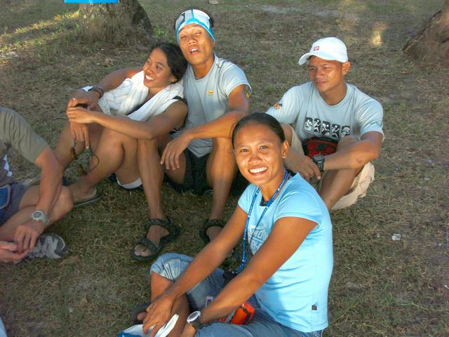 me and the rest of the SuperFit gang, chilling before the Perhentian Island Challenge registration