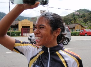 water bottle shower post maiden Broga ride !