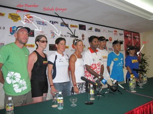 Ironman PC at Ironman Langkawi 2009 with Powerbar athletes