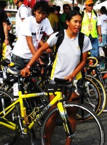 my big friendly yellow submarine @ Ironman Langkawi 09- bike check in