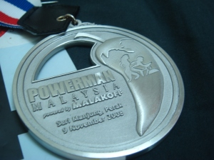 My 1st Powerman medal.  Sub 4 !!