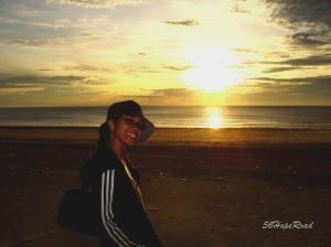 Catching the sunrise at Beserah,Kuantan. This was in 2006.