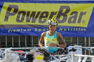 Picture courtesy of Hafizudin Mohd Safar. me with a big Powerbar banner behind me !