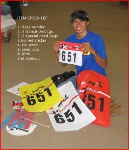 Ironman item check list !