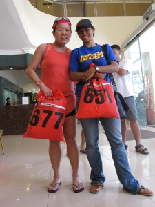 Myself and Singaporean fellow triathlete; Teryn Tham. She did well in IML2009