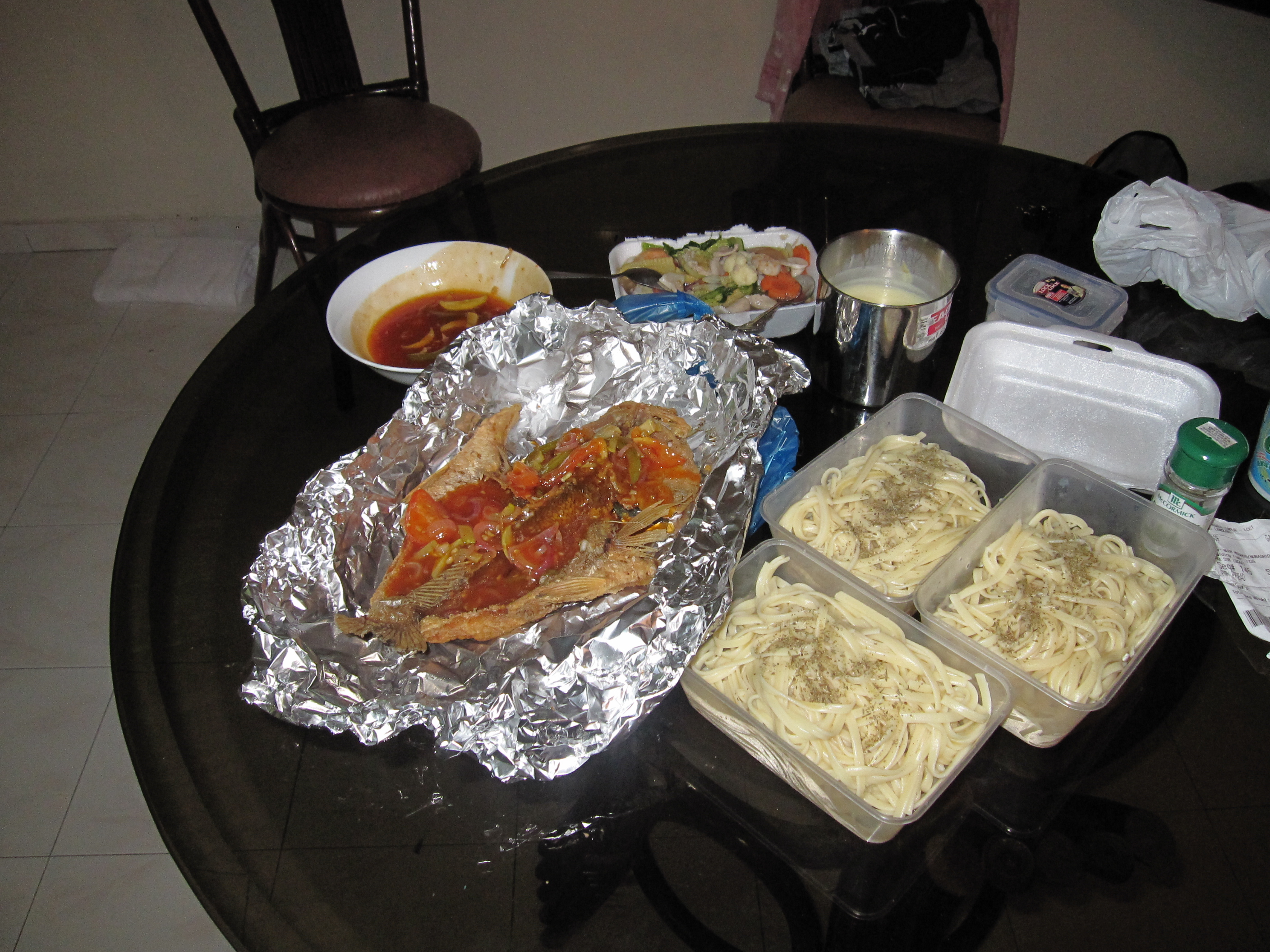 ... prepared dinner for my friends taking part in the toughest race on earth. hahaha.