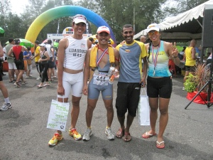 among the Powerbar Team Elite members  who took part in PD Tri ; Shahrom, Major Kalam, Kuna, Juliana Ali