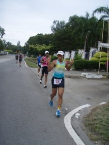 Designer Bernard Chandran behind me (in pink tri suit). I didn't realize that he was behind me until I saw this picture!