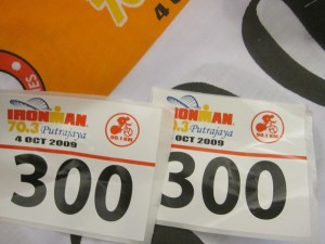 That's the race number helmet sticker. :) Funny size and design.