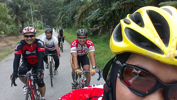With fellow riders :) A good thing this phone has lens on both sides !