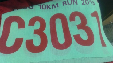 And oh the running bib. Been a while since I have the race belt on ! Running for company tomorrow. Yippee !!!
