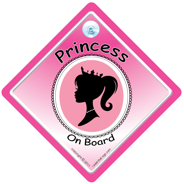 PRINCESS-ON-BOARD-PINK-SILOUETTE-STANDARD