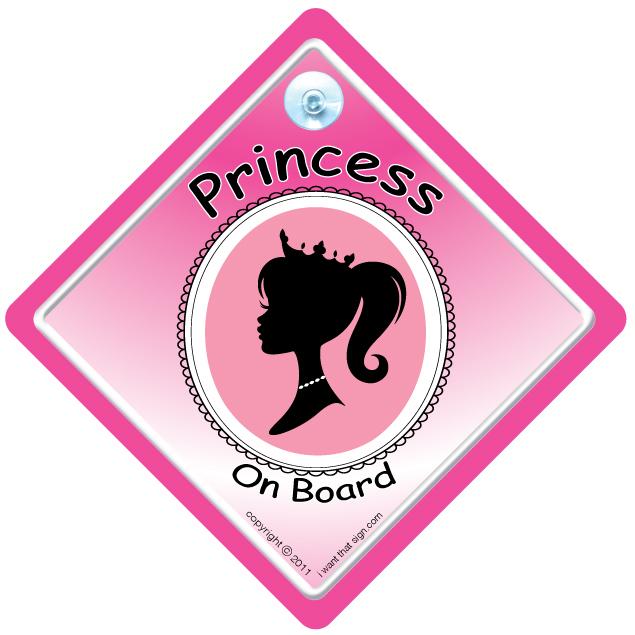 PRINCESS-ON-BOARD-PINK-SILOUETTE-STANDARD