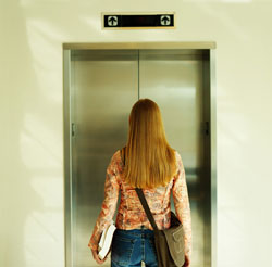 Take the elevator ! There are other means of exercise. Be logical and rational -- look watch out for the time and whereabouts/condition of the staircase. If its at the shopping mall,alone, forget about it. Take the elevators ladies.