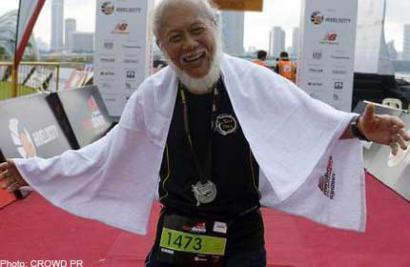 70 year old Mr.Oliver Kerr. Photo source: asiaone Sports