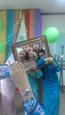 My colleagues and I having fun during the department's raya gathering last month