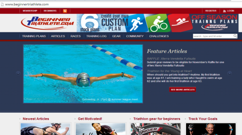 I have been promoting this triathlon training website ever since I used their program for  my 'major' event in 2009. Click on this photo to checkout the website