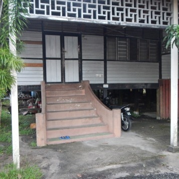 Entrance to a typical kampung house in Pahang