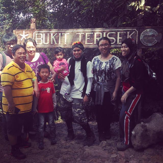 Bukit Terasik, Taman Negara, Kuala Tahan, Pahang-- hiked and conquered. Pack leader in pink tshirt.