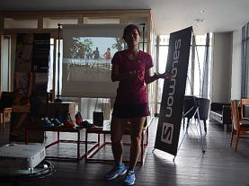 Michelle - 'THE road/trail shoes, which is very practical. 1 shoe with 2 functions (road and trail). Provides the freedom that any runners will need.'