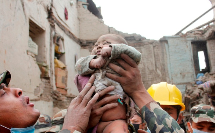 APTOPIX Nepal Earthquake Baby Rescue