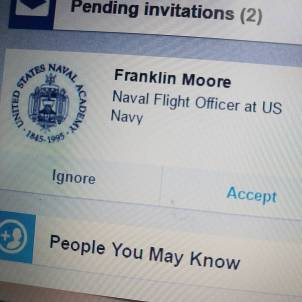 Accepting LinkedIN invite from US Marine Corp