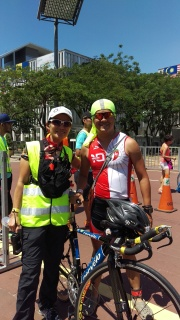 2 out of the 3 original Powerman organising team. Their role and contribution to the development of duathlon in this country is indescribable.