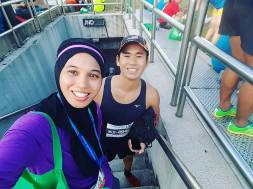 With Edwin Thiang, upcoming national triathlete :)