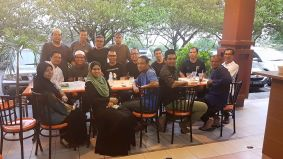 Shakir, Azmar, Dicky, Alwin, Shah, Azahari , Bahri, Aini and other friend gathering after arwah Dett's burial.